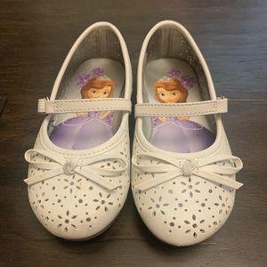 Disney Princess Sophia White Mary Jane size 8
